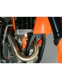KIT MANGUITOS RADIADOR DRC KTM 250 SX-F 08-10 NARANJAS