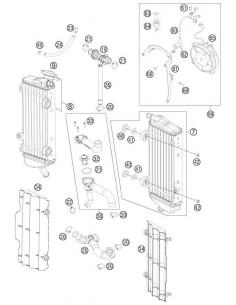SILENTBLOCK RADIADOR KTM 41001052000 | GAS GAS EC 01-11 EC 250F 10-11