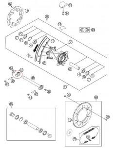 TENSOR CADENA DERECHA KTM EXC/SX - 50310084000