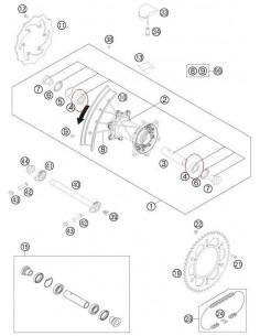 RODAMIENTO RUEDA TRASERA KTM EXC/SX 93-13