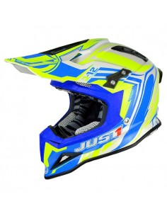 CASCO JUST1 J12 FLAME AMARILLO-AZUL