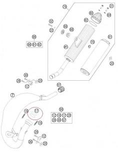 JUNTA ESCAPE KTM 85 SX 03-16 125/150 SX 2016 FREERIDE 250R 2016