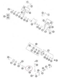 MUELLE VALVULA DE ESCAPE DURO KTM EXC/SX 250/300 VERDE