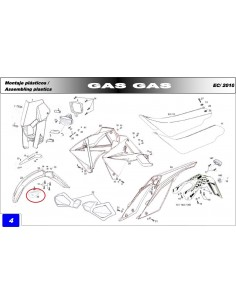 GUIA CABLE DE EMBRAGUE GAS GAS ENDURO