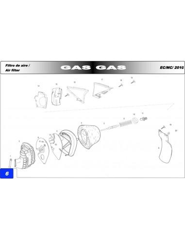 TORNILLO ROSCA PLASTICO GAS GAS 4.5X14 NEGRO