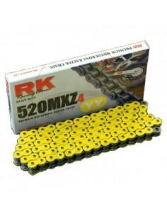 CADENA RK 520MXZ4 MOTOCROSS SUPER REFORZADA 118 PASOS AMARILLA