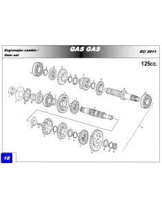 RETEN PIÑON GAS GAS EC 125 28X38X7