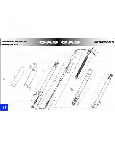 CASQUILLO REGULACION HORQUILLA MARZOCCHI 45MM GAS GAS EC