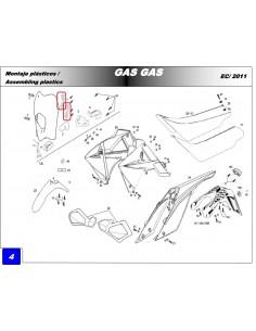 SOPORTE FARO BLANCO GAS GAS EC 11-18