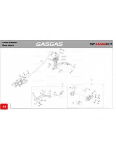 REMACHE PUNTERA PEDAL DE FRENO GAS GAS 23X5.8