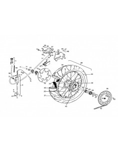 RADIO RUEDA TRASERA GAS GAS SM 170X4 INOX