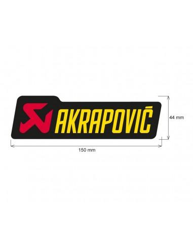ADHESIVO ANTICALORICO AKRAPOVIC 150X45 MM