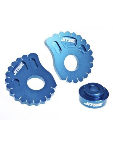 EXCENTRICAS 20MM CON DISTANCIADOR GAS GAS PRO/RACING/FACTORY 08-14 AZULES