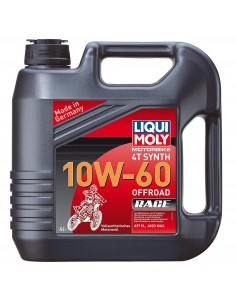 ACEITE LIQUI MOLY 4T 100% SYNTH 10W60 OFF ROAD RACE - 4 LITROS