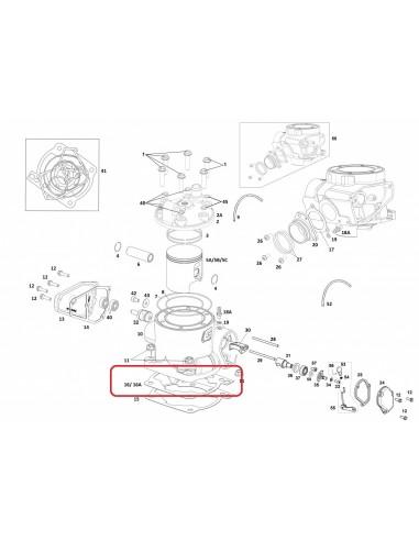 JUNTA CILINDRO 0.5 METALICA CON SILICONA GAS GAS EC 18-19
