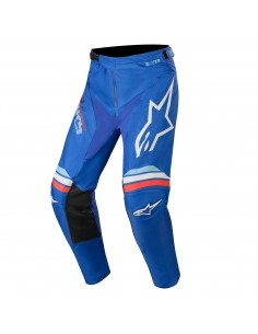 OUTLET PANTALON ALPINESTARS RACER BRAAP AZUL BLANCO 2020