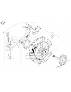 TUERCA RADIO RUEDA GAS GAS D7 M4.5x0.75 EC 250-2001 SUP
