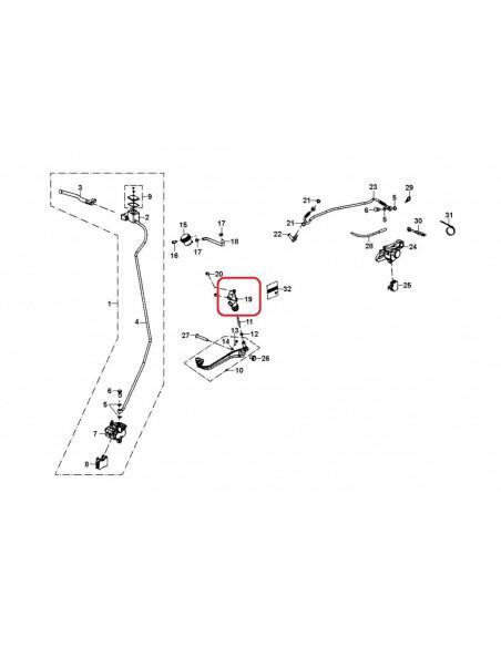BOMBA DE FRENO TRASERA GAS GAS TRIAL 129.00.002C-1