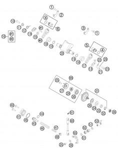 MUELLE VALVULA DE ESCAPE BLANDO KTM EXC/SX 250/300 AMARILLO