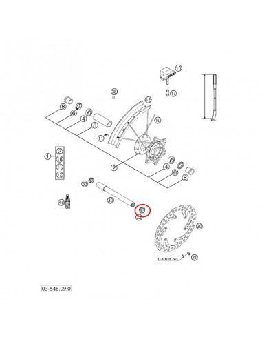 IMAN CUENTAKILOMETROS KTM EXC 03-16