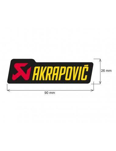 ADHESIVO ANTICALORICO AKRAPOVIC 90X26,5 MM