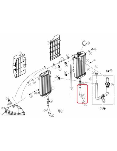 TUBO RADIADOR INFERIOR DERECHO GAS GAS EC 14-19