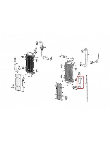 TUBO RADIADOR INFERIOR IZQUIERDO GAS GAS EC 14-19