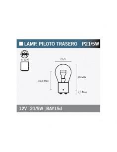LAMPARA PILOTO TRASERO 12V 21/5W BLANCA