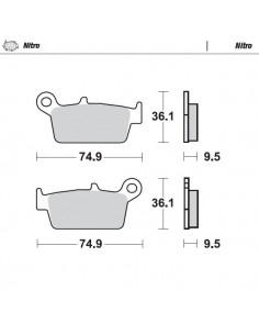 PASTILLAS DE FRENO TRASERAS MOTO MASTER GAS GAS 00-09 KX 125/250 95-08 RM 125 96-08 RM 250 96-06