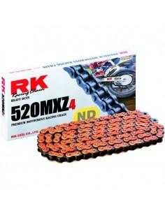 CADENA RK 520MXZ4 MOTOCROSS SUPER REFORZADA 118 PASOS NARANJA