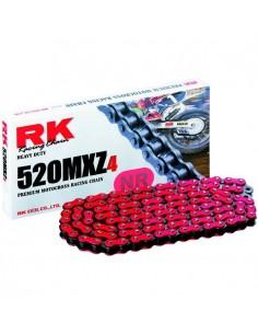 CADENA RK 520MXZ4 MOTOCROSS SUPER REFORZADA 118 PASOS ROJA