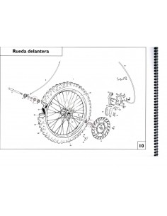 RETEN RUEDA DELANTERA/TRASERA GAS GAS 25X42X7