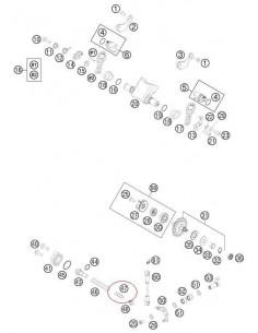 MUELLE VALVULA DE ESCAPE BLANDO KTM EXC/SX 250/300 ROJO