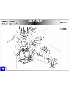 JUNTA BASE CILINDRO GAS GAS EC 125 0.15MM