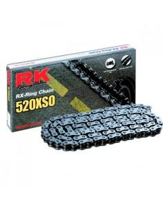 CADENA RK 520 XSO RETENES SUPER REFORZADA 118 PASOS NEGRA