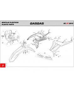 TORNILLO ESPECIAL PLASTICO 4x12 GAS GAS