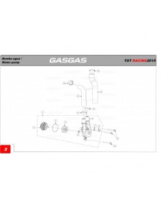 TORICA TAPA BOMBA DE AGUA GAS GAS 37X1.5 NBR
