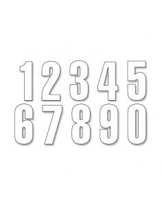 NUMEROS VINILO ESTANDAR 13X7 CM BLANCOS