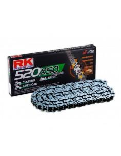 CADENA RK 520 XSO RETENES SUPER REFORZADA 120 PASOS NEGRA