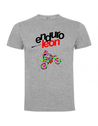 CAMISETA ENDUROLEON GRIS MOTO MULTICOLOR